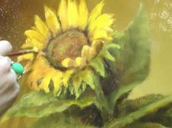 Vibrant Sunflower Oil Painting Demostration by Lori McNee