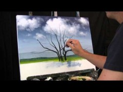 Time Lapse Speed Painting Jacaranda Tree by TIm Gagnon oil/acrylic landscape paintings.
