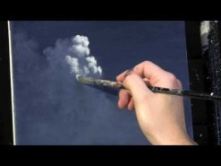 Moonlit Night Sky Clouds acrylic painting lesson available at http://www.timgagnon.com