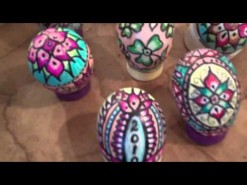 Easter Egg design using magic markers.