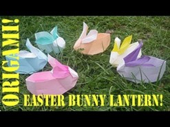 Origami Daily - 255: Easter Bunny Basket (Lantern) - TCGames [HD]