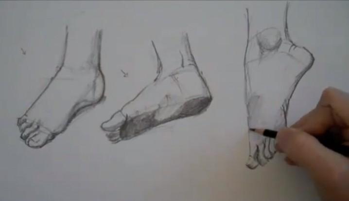 20740fb307db Πως ζωγραφίζουμε πόδια