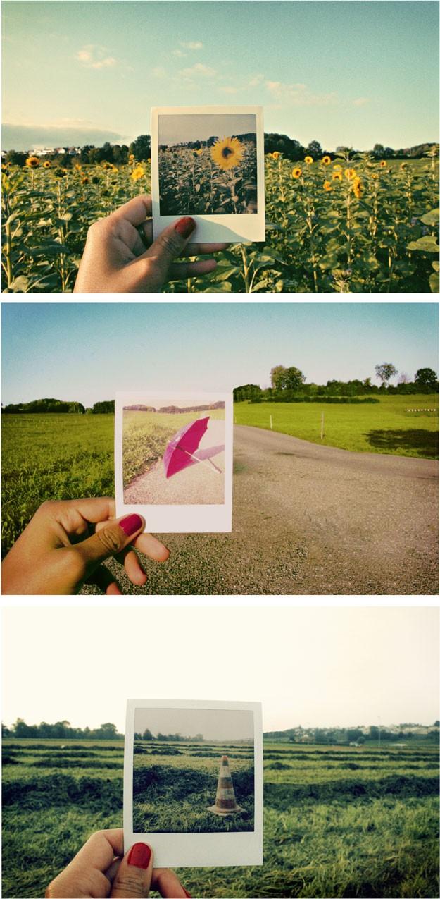 Как то сделать полароидные фото